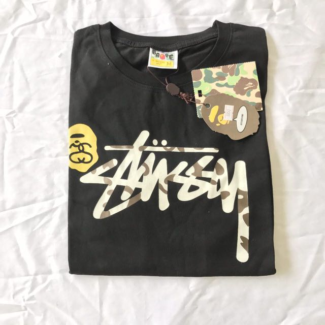 5ebe6bfe1 Bape X Stussy Tee, Men's Fashion, Clothes on Carousell
