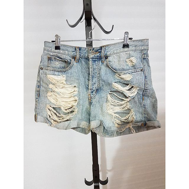 Bardot Ripped Denim Shorts