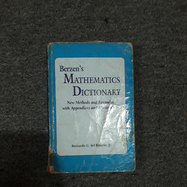 Berzen's Mathematics Dictionary