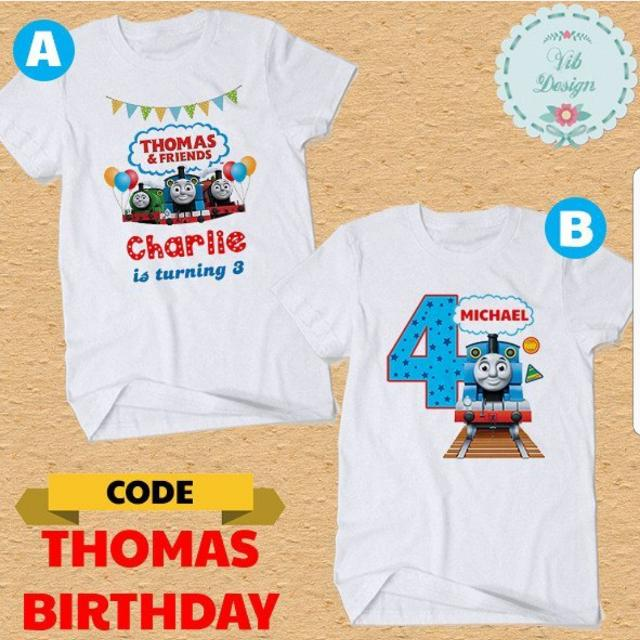 BEST SELLING Thomas The Train Birthday Family T Shirts Baby Romper