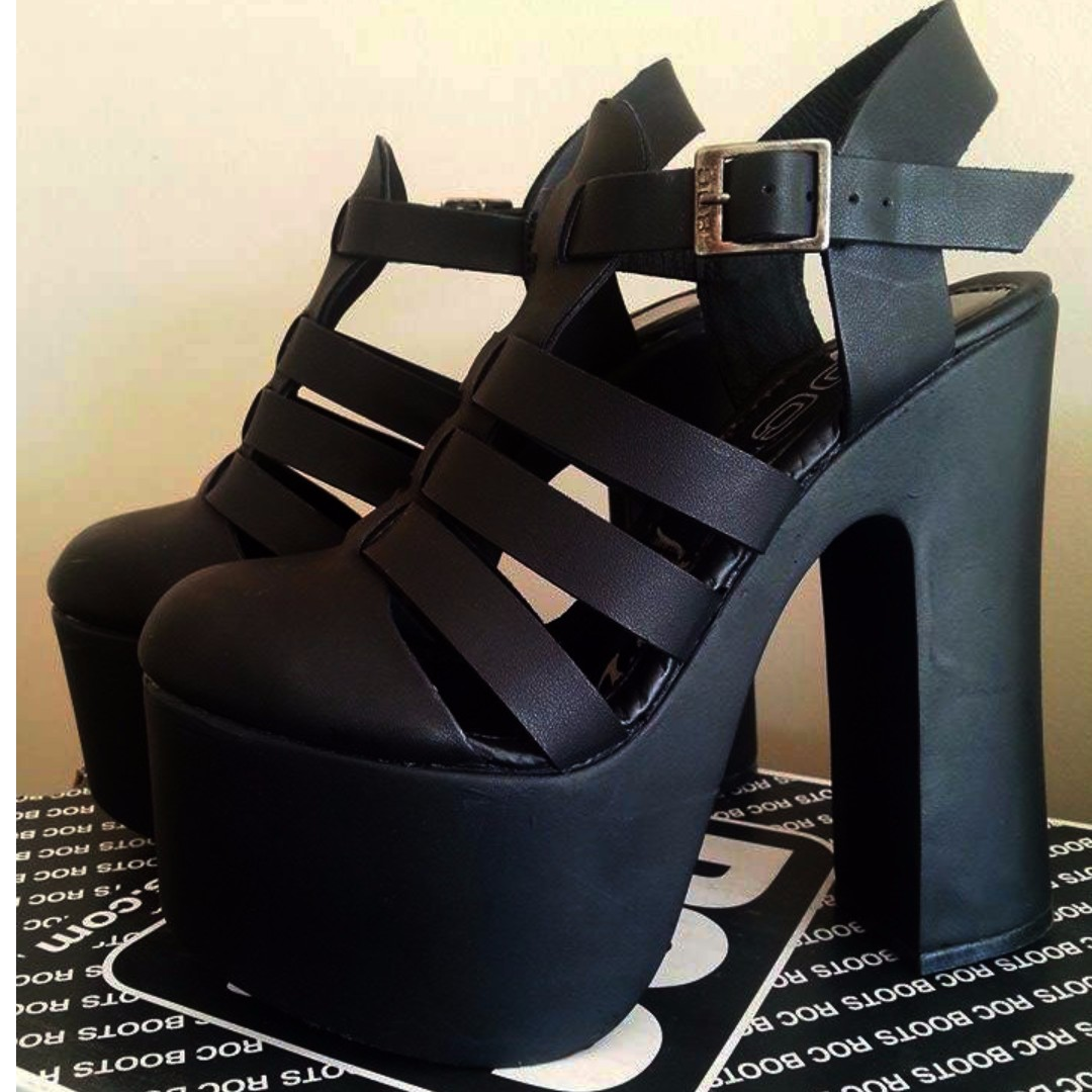Black Platform Heels Size 5/36