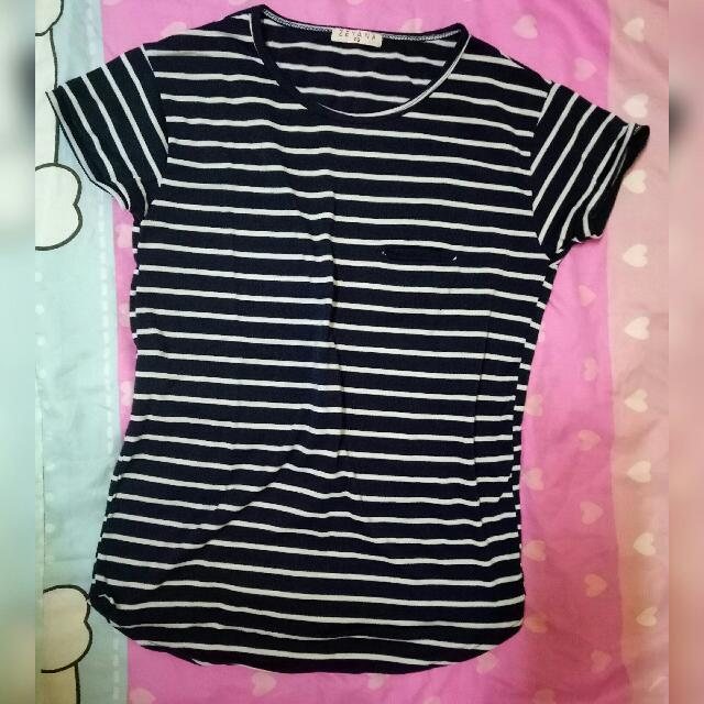 Blue And White Stripes Blouse