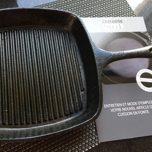 Cast Iron Grilling Pan for BBQ or Stovetop