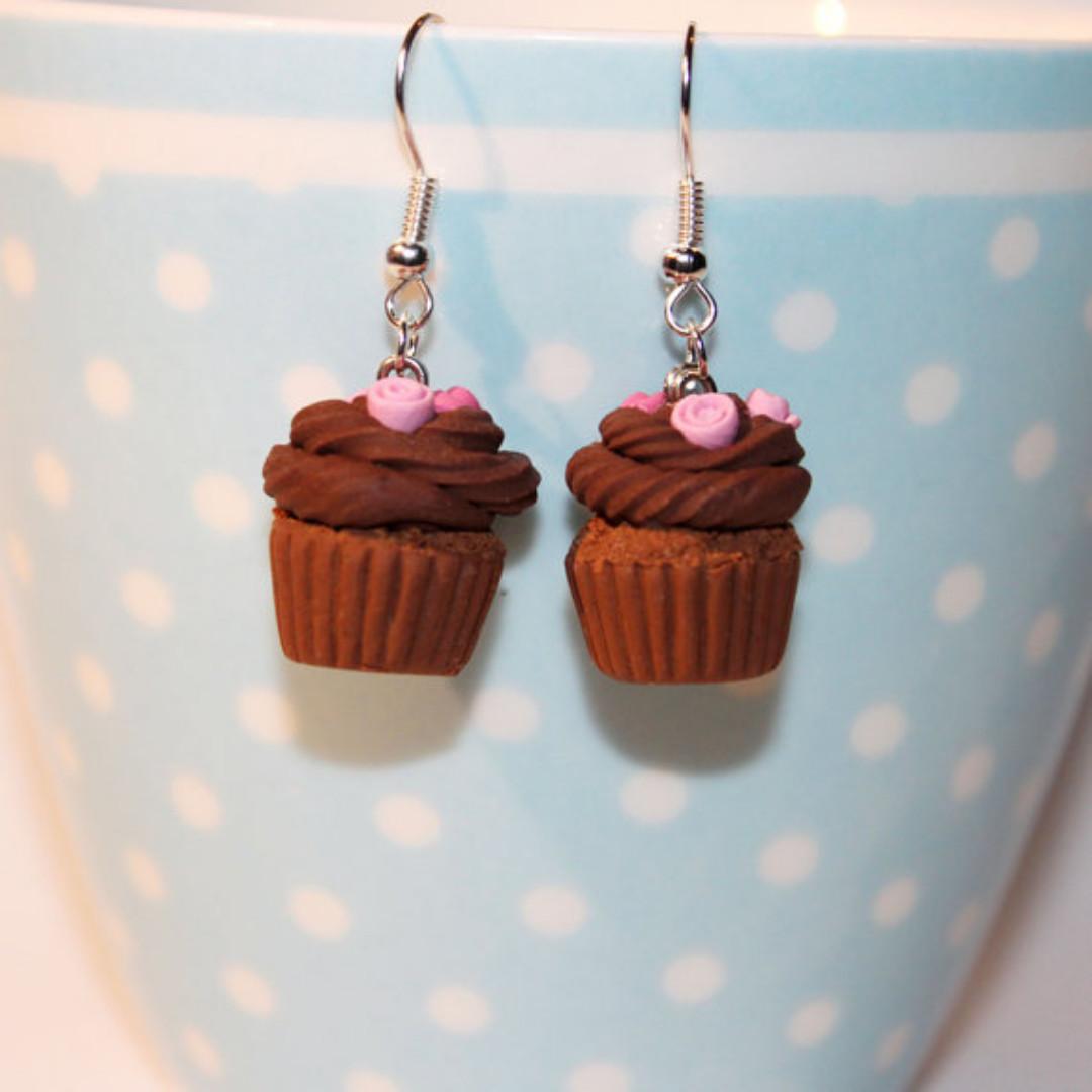 Chocolate Muffin Earrings (176)
