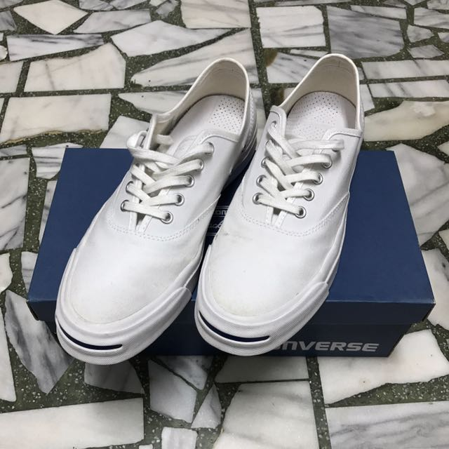 Converse Jack Purcell 白色 帆布鞋 All Star Nike Zoom Air鞋墊 US9.5 10