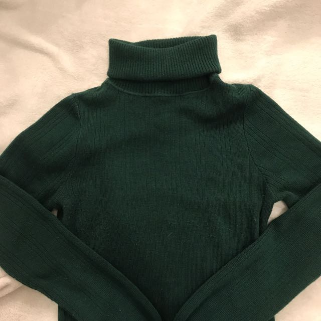 dark green turtleneck