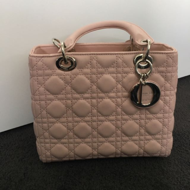 Dior Pink Lady Bag Medium Leather