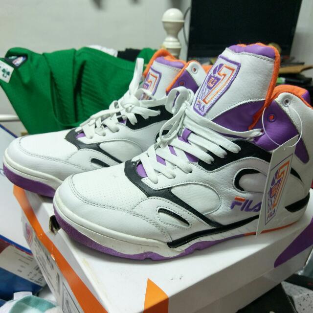 FILA KJ7 復刻 NBA Vintage Kevin Johnson 太陽隊 US12=30cm #二手品牌好鞋