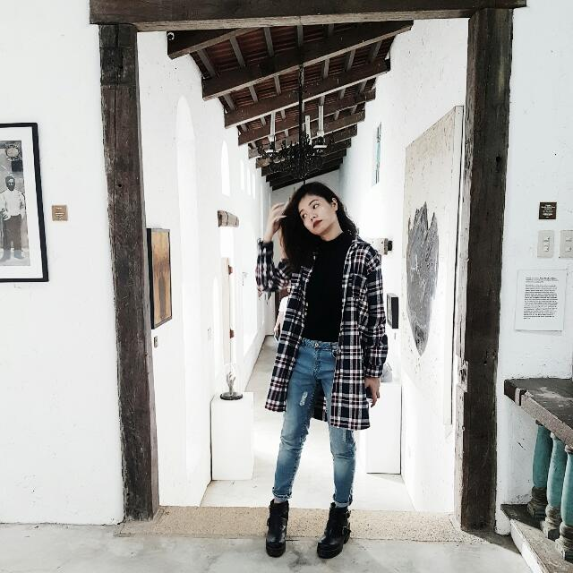 Agrovia Flannel Trench Coat