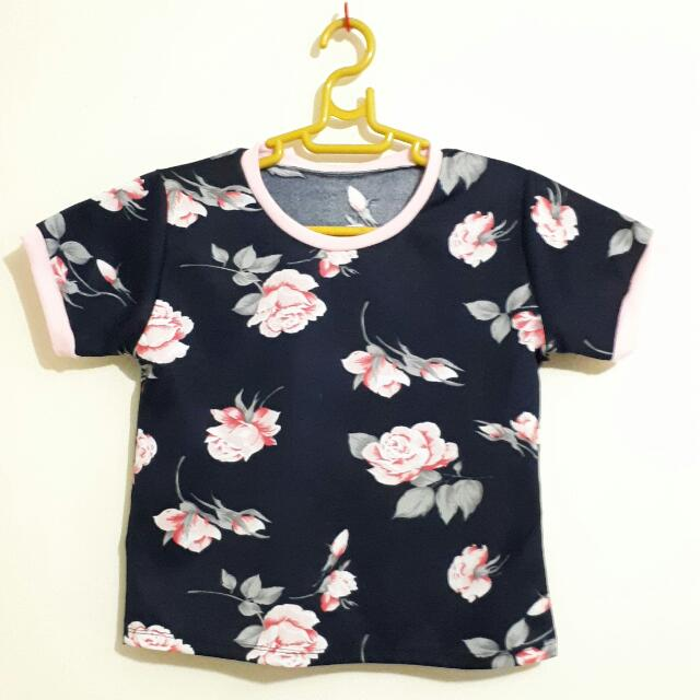 Floral Semi Cropped Shirt