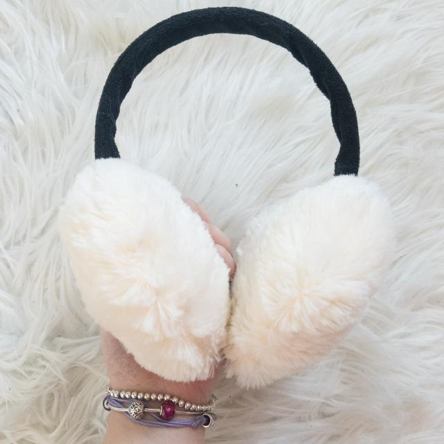 Fluffy Heart Earmuffs