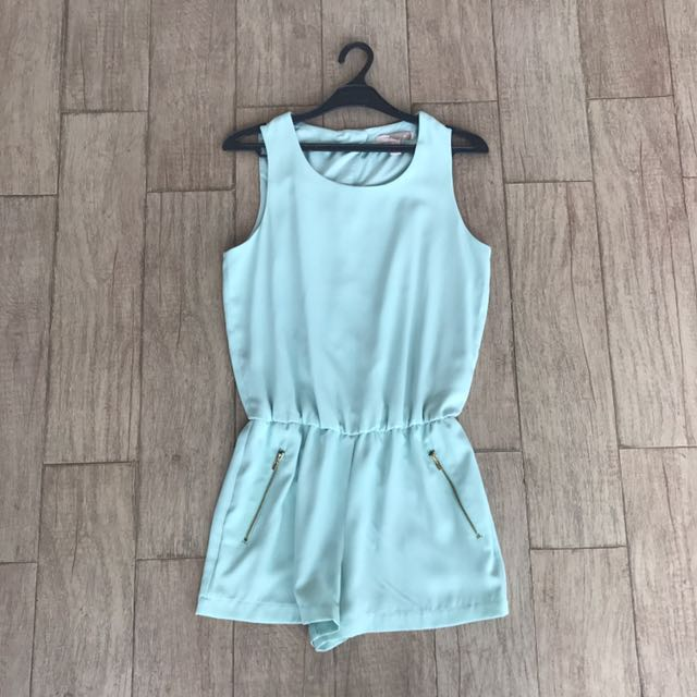 Forever 21 Turquoise Jumpsuit