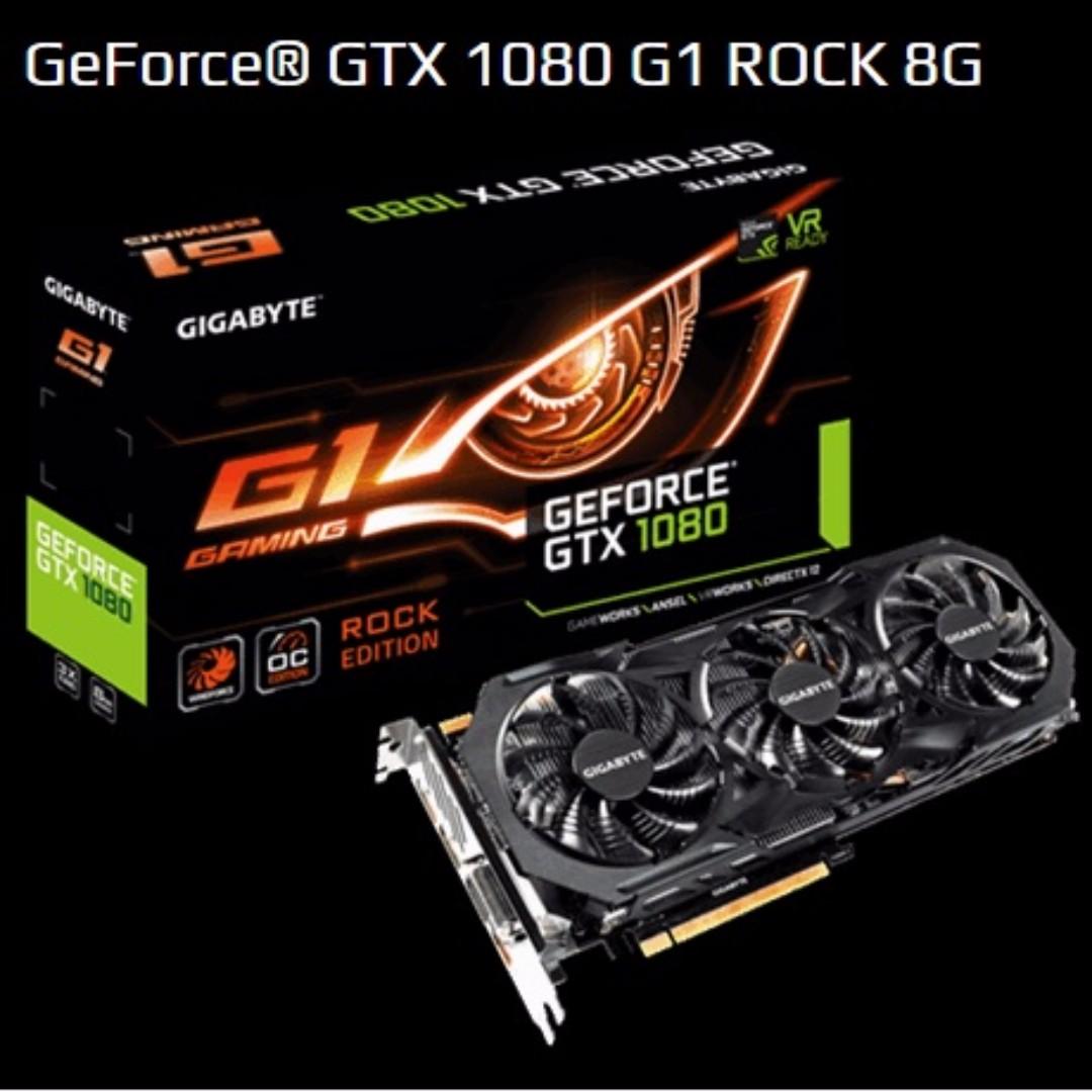 Gigabyte GeForce® GTX 1080 G1 ROCK 8G