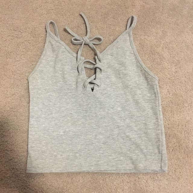 Grey Temt Crop Top