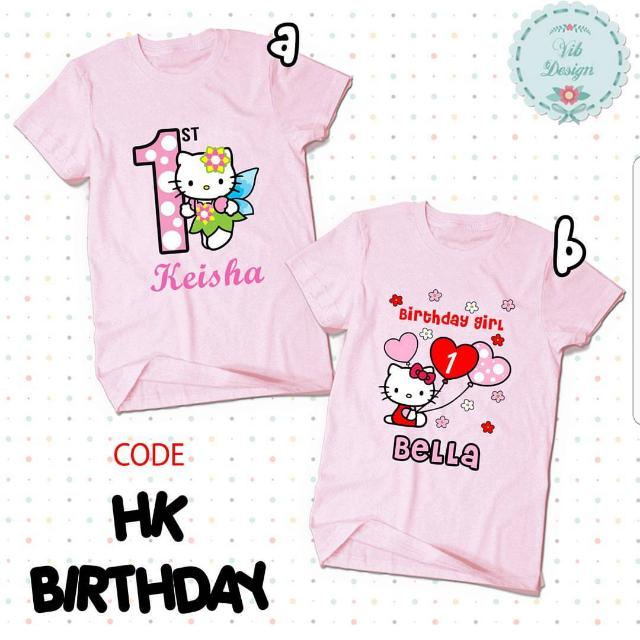 Hello Kitty Personalised Family T Shirts Baby Romper Group Babies Kids Girls Apparel On Carousell