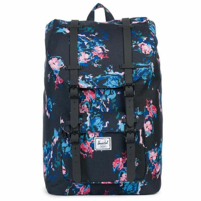 HERSCHEL SUPPLY CO. Little America 23.5LBackpack - Floral Blur/Black Rubber