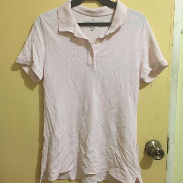 H&M Pink Polo Shirt
