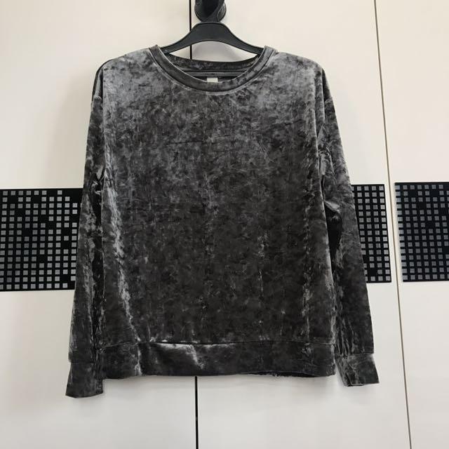 H&M Velvet Top / Velvet Long Sleeves
