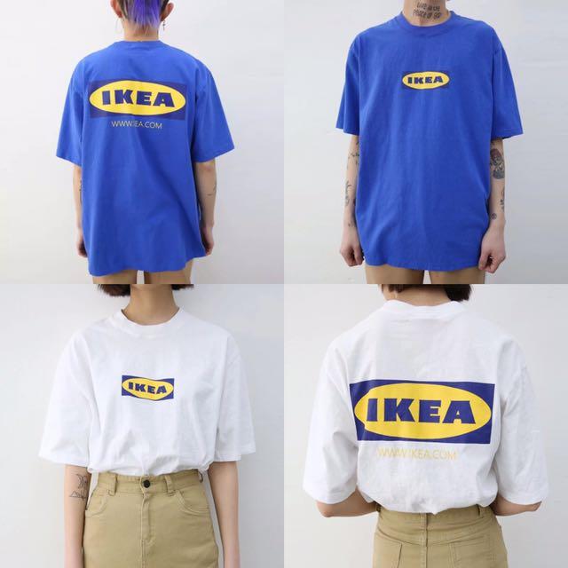 [孬]/男女非主流Ikea短袖圓領T恤/