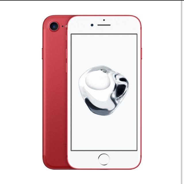 iPhone 7 紅 128G(已售出 若有需求需預訂