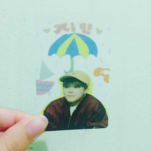 JIMIN Transparent Photo Card