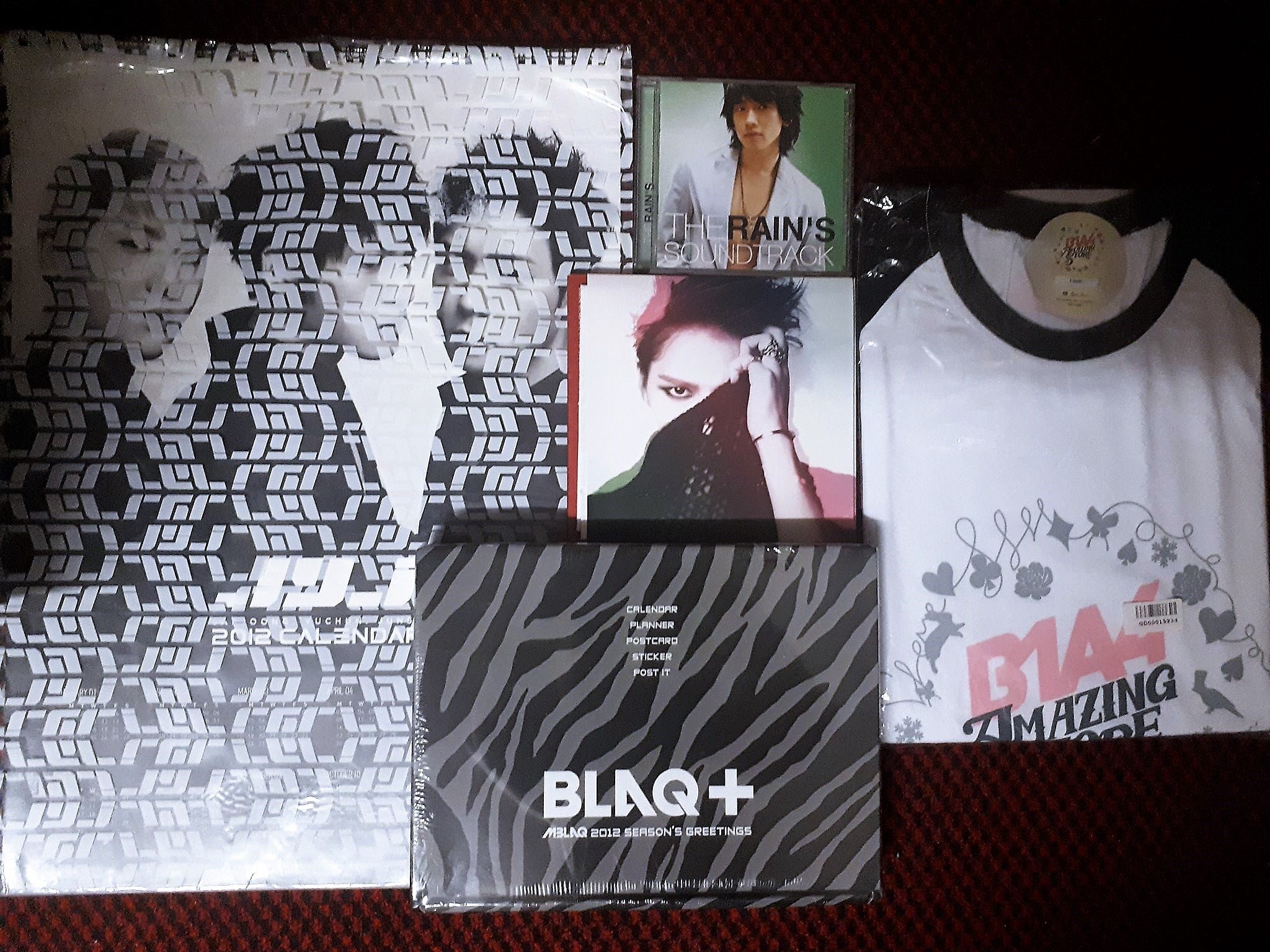 JYJ,  Jaejoong, Rain, Mblaq, B1A4 (Calendar. Albums, T-shirt)