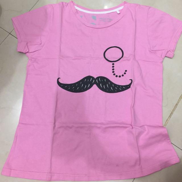 Kaos Pink Kumis Moustache
