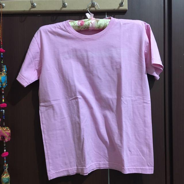 Kaos Pink Muda Soft Pink Shirt