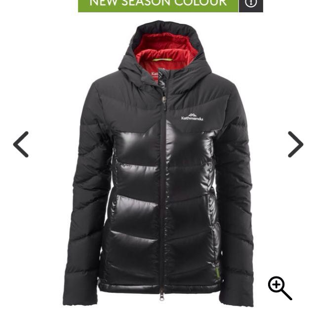 Kathmandu Ladies Epiq Black Hooded Coat Sz 10