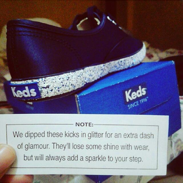 Keds Kicks With Glitters (Blue)