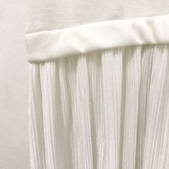 KYVA - White Pleats Long Dress