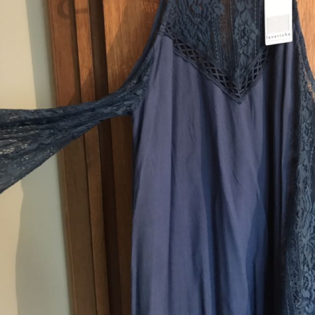 Lace Navy Dress