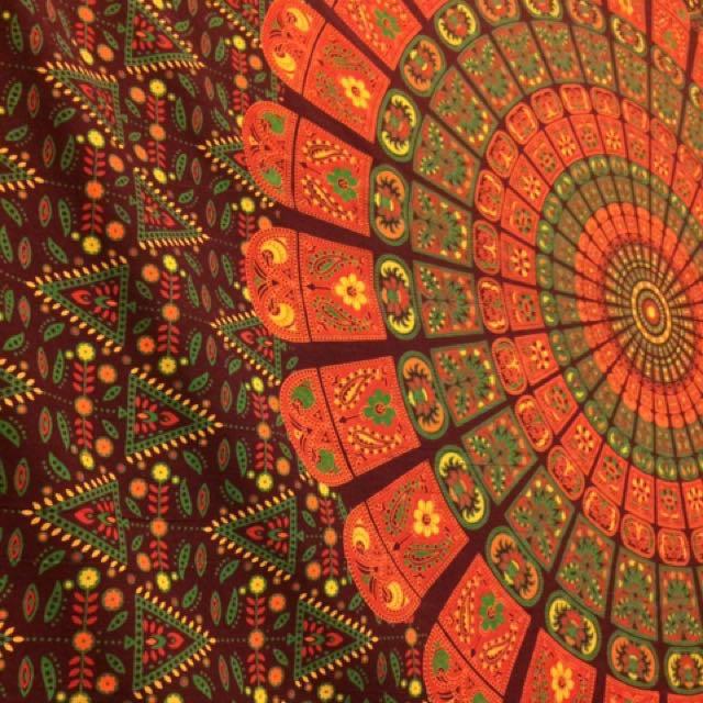 LARGE Hippy Tribal Geometric Paisley Mandala Wall Hanging Tapestry