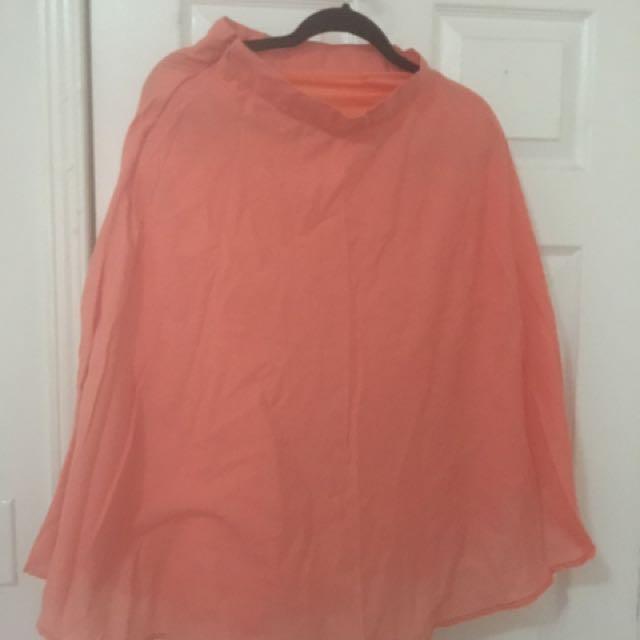 Light Orange Skater Skirt
