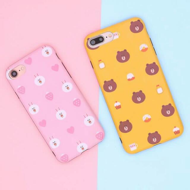 official photos 0531b d4c0b Line Friends Iphone 5 5S SE 6 6S 6+ 6S+ 7 7+ Case on Carousell