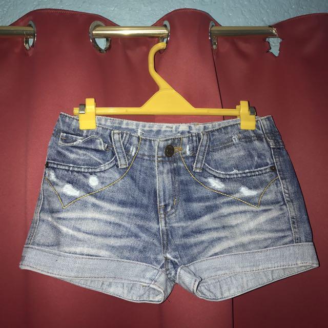 (maong) denim shorts [korea]