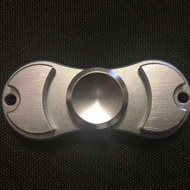 Matte Silver 2 Pronged Fidget Spinner