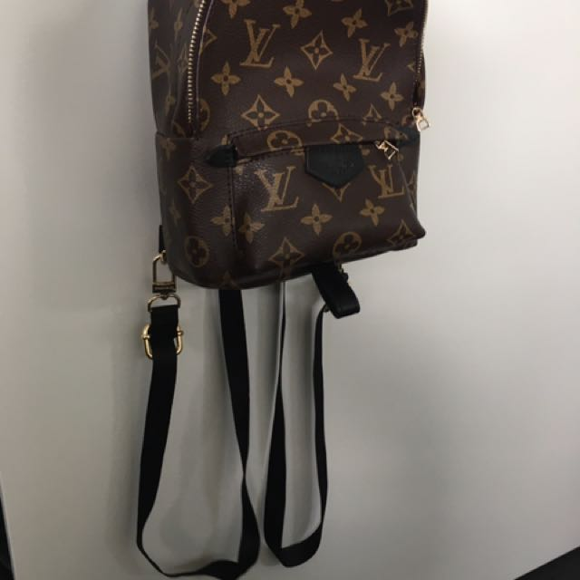 Mini Brown black Leather LV Backpack