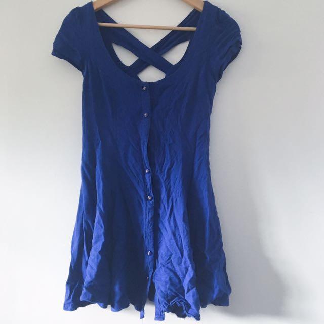 Mink Pink Dress Blue