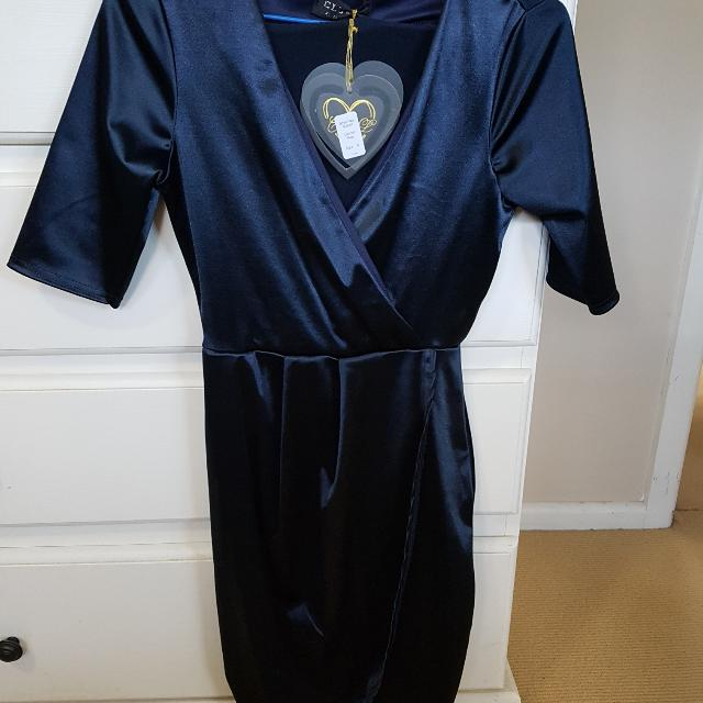 Navy Beautiful Long Sleeve Dress