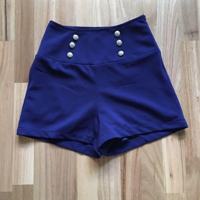 Navy Blue Sailor Shorts