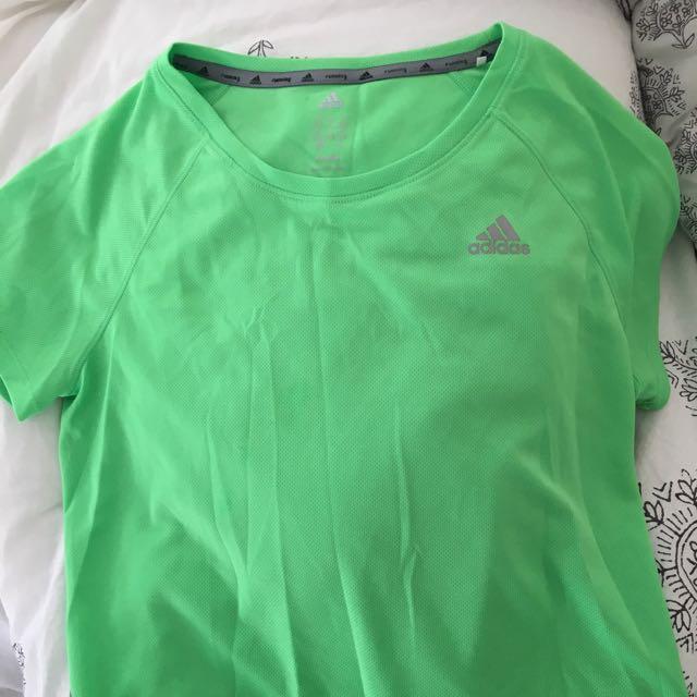 Neon Green Adidas Top