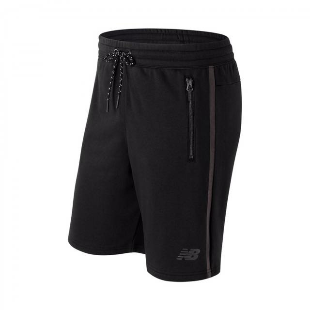 Newbalance 棉質針織短褲 AMS73531BK 黑-男款