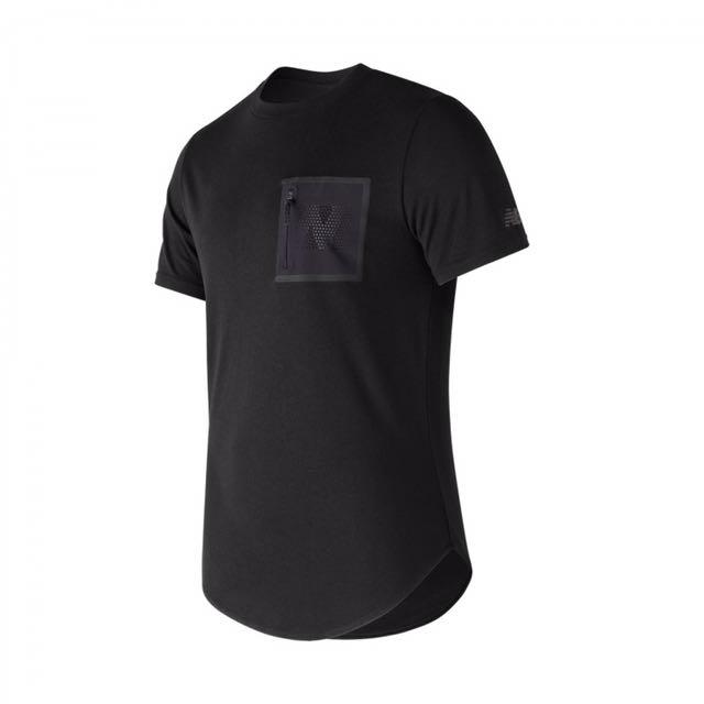 Newbalance 口袋造型短袖T恤 AMT73503BK 黑-男款