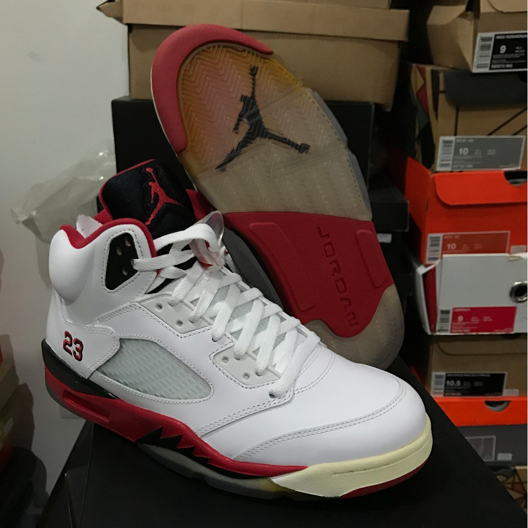 sneakers for cheap 4e369 5312b Nike Air Jordan 5 Fire Red Black Tongue, Men s Fashion, Footwear on ...
