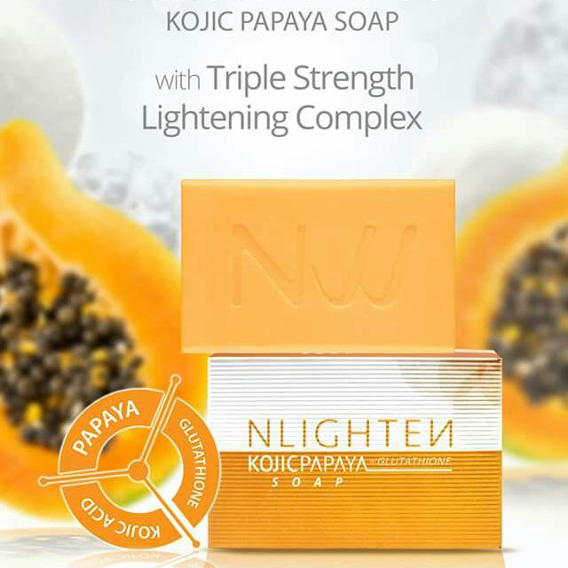 NLighten Kojic Papaya with Glutathione soap