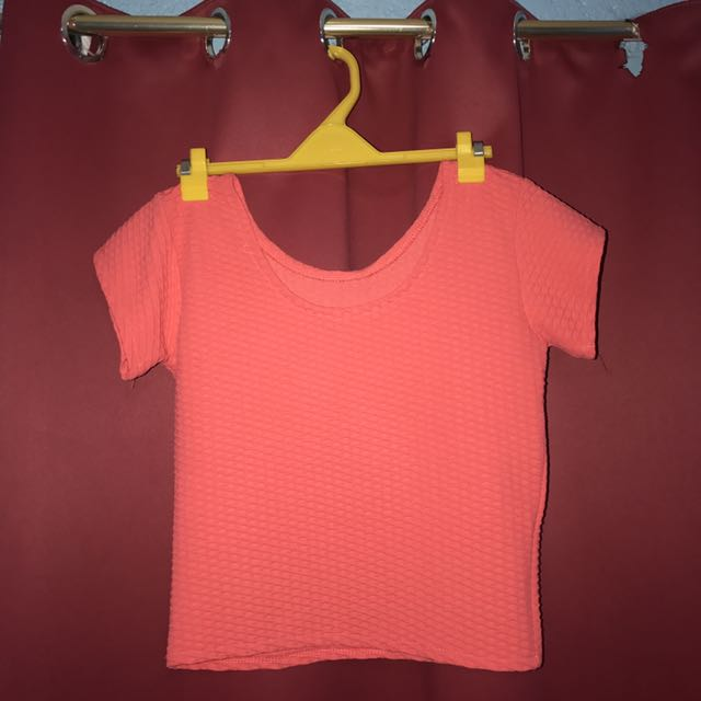 pink/orange crop top