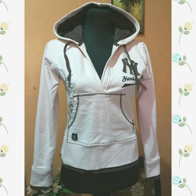 Preloved Light Pink Hoodie Jacket