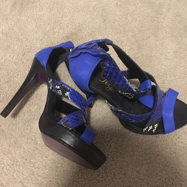 Purple Bottom, Blue Heels