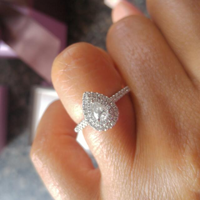 Real Diamond Pear Shaped Engagement Purchased For $4000 From Michael Hill Jeweller. Original Boxes With Bow Is Included For Ring. And Will Include A MH Charm Bracelet (Additional charm Pieces Not included)